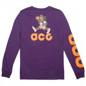 Nike Men Sportswear Acg Long Sleeve Tee (night purple / bright mandarin)
