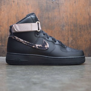 Nike Men Air Force 1 High Print (black / white-particle beige)