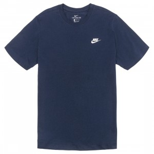 Nike Men Sportswear Club Tee (midnight navy / white)