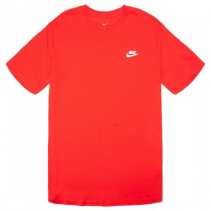 Nike Men Sportswear Club Tee (university red / white)