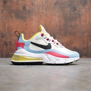 Nike Women Air Max 270 React (phantom / black-light blue-university red)