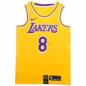 Nike Men Kobe Bryant Lakers Icon Edition Jersey (amarillo / field purple / white)