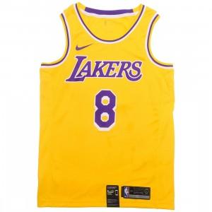 Nike Men Kobe Bryant Lakers Icon Edition Jersey (amarillo / field purple / white)