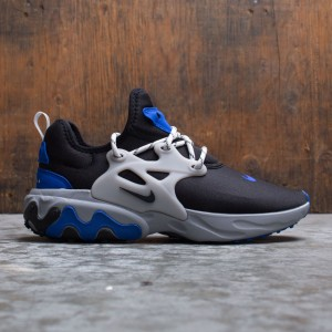 Nike Men React Presto (black / black-racer blue-atmosphere grey)