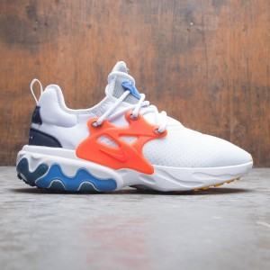 Nike Men React Presto (white / habanero red-obsidian-pacific blue)