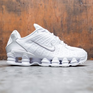 Nike Men Shox Tl (white / white-metallic silver-max orange)