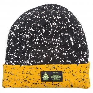 Nike Men Nrg A14 Beanie (black / yellow ochre / white)