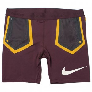 Nike Women W Nrg Gyakusou Helix Short (deep burgundy / dk smoke grey / pale ivory)