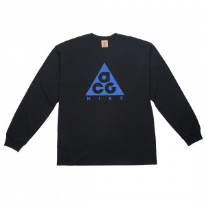 Nike Men Nrg Acg Long Sleeves Logo Tee (black / game royal)