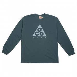 Nike Men Nrg Acg Logo Long Sleeves Tee (deep jungle / aviator grey)