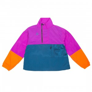 Nike Women Acg Anorak Jacket (vivid purple / blue force / bleached coral)