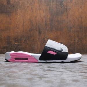 Nike Men Air Max 90 Slide (white / smoke grey-rose-lt smoke grey)