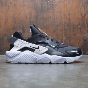 Nike Men Air Huarache Run Premium Zip (black / black-white)