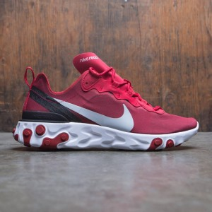 Nike Men React Element 55 (gym red / wolf grey-white-black)