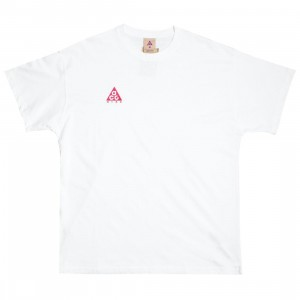 Nike Men M Nrg Acg Ss Logo Tee (summit white / rush pink)