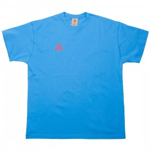 Nike Men Nrg Acg Logo Tee (lt photo blue / habanero red)