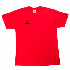 Nike Men Acg Logo Tee (university red / black)