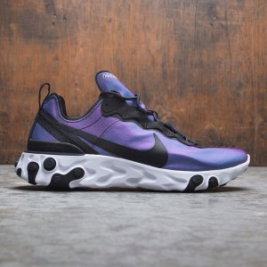 Nike Men React Element 55 Premium (black / black-laser fuchsia-white)