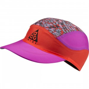 Nike Men Nrg Acg Tailwind Cap (habanero red / vivid purple / black / black)