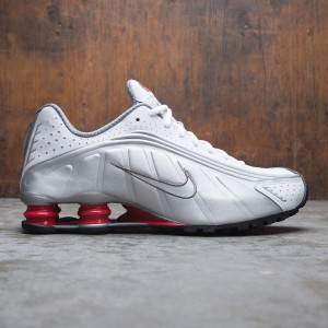 Nike Men Shox R4 (white / metallic silver-comet red-black)