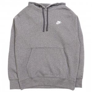 Nike Men Sportswear Club Fleece Hoody (charcoal heathr / anthracite / white)