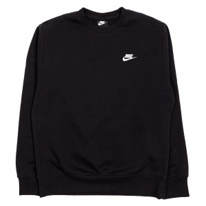 Nike Men Sportswear Club Fleece Long Sleeves Tee (black / white)