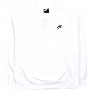 Nike Men Sportswear Club Fleece Long Sleeves Tee (white / black)
