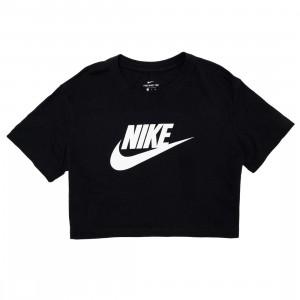 Nike Women Sportswear Essential Cropped Tee (black / white)