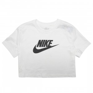 Nike Women Sportswear Essential Cropped Tee (white / black)