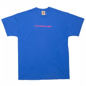 Nike Men Nrg Acg Gx 3D Logo Tee (game royal / rush pink)