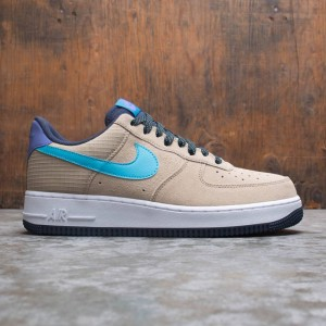 Nike Men Air Force 1 '07 Lv8 (khaki / blue fury-persian violet)