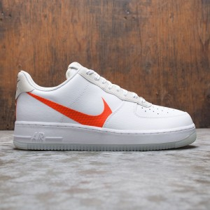 Nike Men Air Force 1 '07 Lv8 (white / total orange-summit white-black)