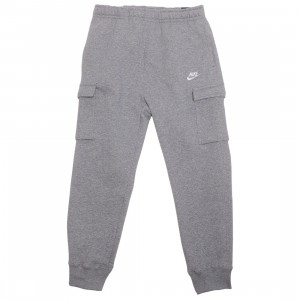 Nike Men Sportswear Club Fleece Cargo Pants (dk grey heather / matte silver / white)