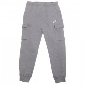 Nike Men Sportswear Club Fleece Cargo Pants (dk grey heather / matte silver / white)