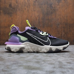 Nike Men React Vision (black / sail-dk smoke grey-gravity purple)