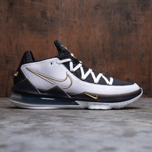 Nike Men Lebron 17 Low (white / metallic gold-black)