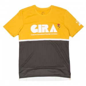 Nike Men Nrg Na Top Tee - Gyakusou (mineral yellow / deep pewter / sail)