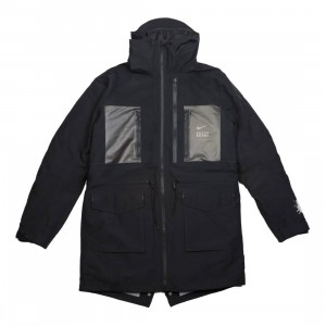 Nike Men M Nrg Tc Parka Fish Tail 3L Hooded Jacket (black / white)