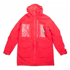 Nike Men M Nrg Tc Parka Fish Tail 3L Hooded Jacket (sport red / white)