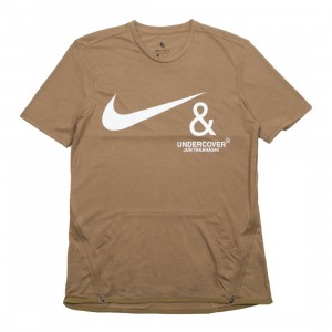 Nike Men M Nrg Tc Top Ss Pocket Tee (lichen brown / white)