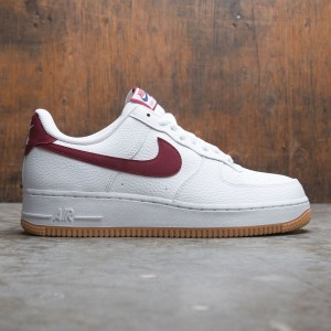 Nike Men Air Force 1 (white / team red-blue void-gum med brown)