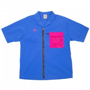 Nike Men Nrg Acg Top Short Sleeve Shirt (game royal / sport fuchsia)