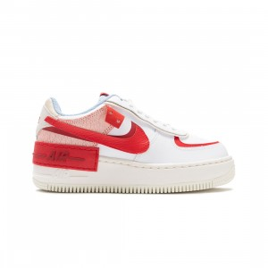 Nike Women Air Force 1 Shadow (summit white / university red-gym red)