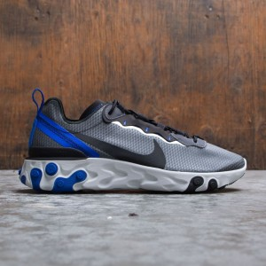 Nike Men React Element 55 Se (black / black-racer blue-summit white)