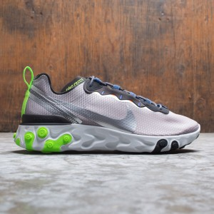 Nike Men React Element 55 Se (pumice / metallic silver-total orange)