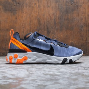 Nike Men React Element 55 Se (midnight navy / black-total orange)