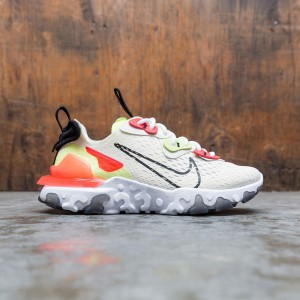Nike Women React Vision (pale ivory / black-volt-laser crimson)