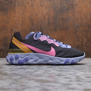 Nike Men React Element 55 (black / magic flamingo-light thistle)