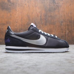 Nike Men Cortez Basic (black / metallic silver-white)