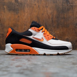 Nike Men Air Max 90 Premium (sail / safety orange-black-gum med brown)